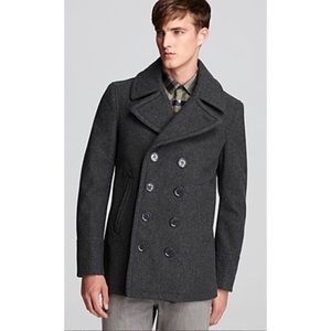 Burberry Brit Eckford Peacoat Men's Wool Coat L